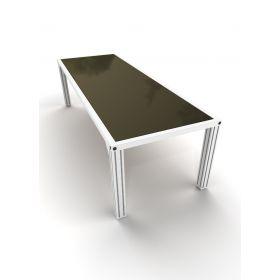 Alu4Life Outdoor Tafel 'Dikkels' - White Aluminium Glas